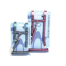 Cat Walk Harness & Lead Set Paw Print Assorted Sml (Pack of 3)