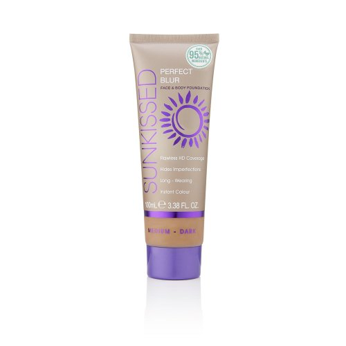 Sunkissed Perfect Blur Face & Body Foundation 100ml Medium/Dark (95% Natural Ingredients)