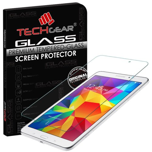 TECHGEAR Screen Protector for Galaxy Tab 4 8.0 Inch (SM-T330) - GLASS Edition Genuine Tempered Glass Screen Protector Guard Cover Compatible with...