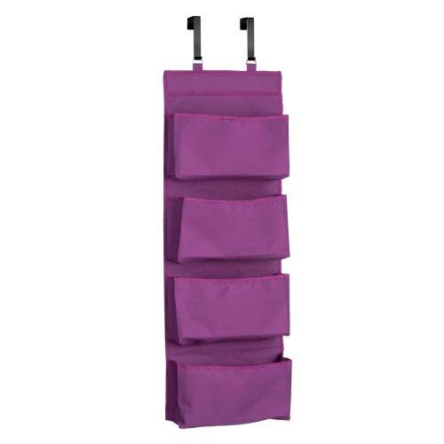 4-Tier Over Door Hanging Organiser - Purple