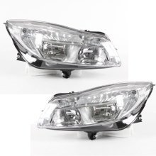 Vauxhall Insignia 2008-2013 Headlights Headlamps Chrome Inner Pair O/s & N/s