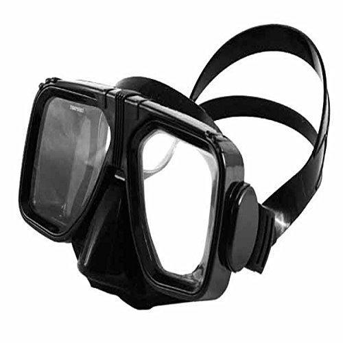 Scuba Max MK 121 Navigator Medium Skirt Scuba Dive Mask Blue Clear