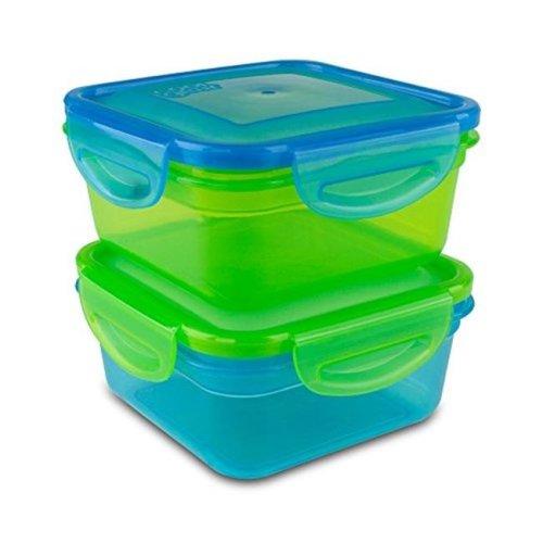 Cool Gear 1933 GR-BL Snap & Seal Food Storage, Green & Blue