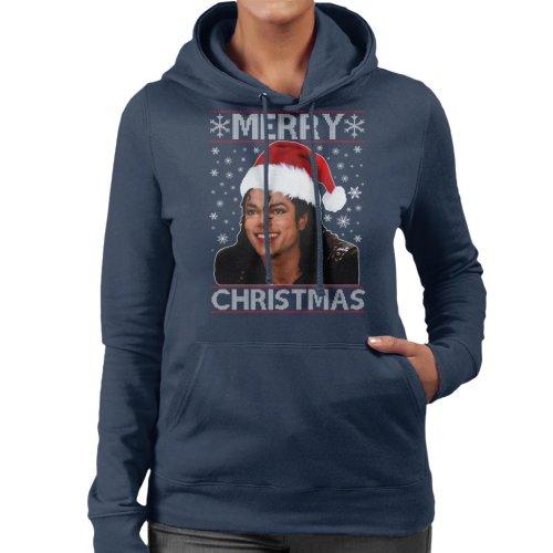 Michael Jackson Merry Christmas Women's Hooded Sweatshirt
