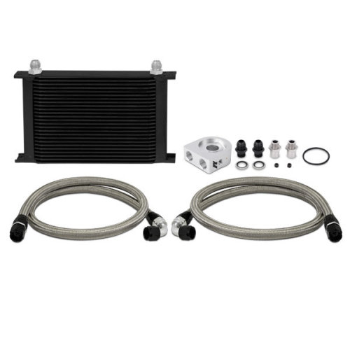 Mishimoto MMOC-ULBK Universal Oil Cooler Kit, 19-Row, Black