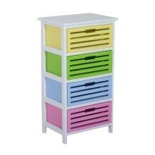 Homcom Modern 4 Drawer Wooden Unit Storage Organizer Furniture