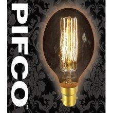 PIFCO G80 40 Watt B22 Bayonet Vintage Globe Retro Light Bulbs