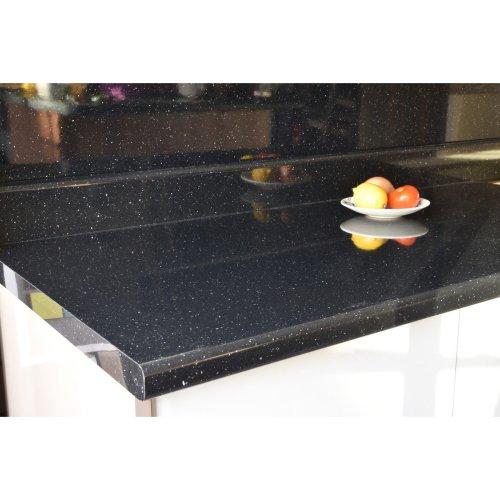 40mm Black Sparkle Gloss Laminate Kitchen worktops