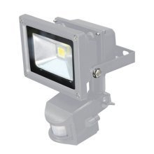 Grey 10 W LED Flood Light with PIR sensor and PIR Override Facility