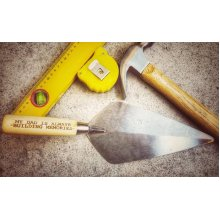 The Perfect Manly Builder/Brick Layer Gift Engraved Brick Trowel