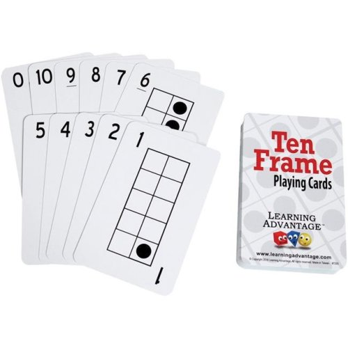 Learning Advantage CTU7293BN Ten Frames Playing Cards - Pack of 6
