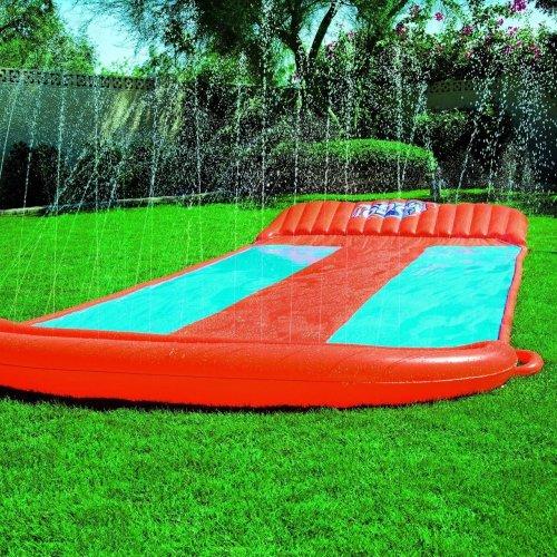 Bestway Children Kids 5.5 m H2O Go! Triple Slider Water Slide Orange & Blue