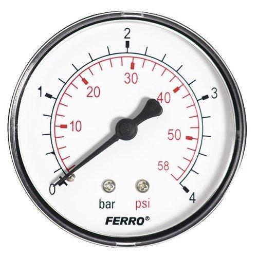 "60mm 4bar 60psi Pressure Gauge Air Oil or Water 1/4"" Bspt Rear Entry Manometer"