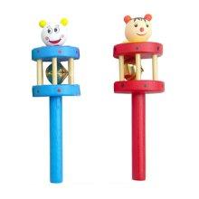 Set of 2 Lovely Cartoon Baby Toys Sound Toys Baby Rattles(Random pattern)