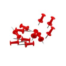 200-Count,Calendar/Photos Pushpins, Map Pushpins, Steel Point, Red Colors