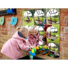 Childrens 9 Domed Convex Acrylic Mirror 780mm (72414) - Nursery/School