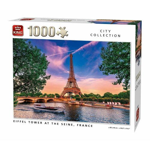 1000 Piece King City Collection Jigsaw Puzzle Eiffel Tower France Paris