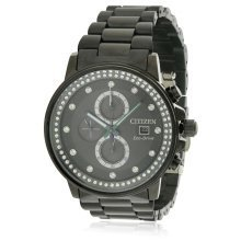 Citizen Eco-Drive Nighthawk Black Ion Chronograph Ladies Watch FB3005-55E
