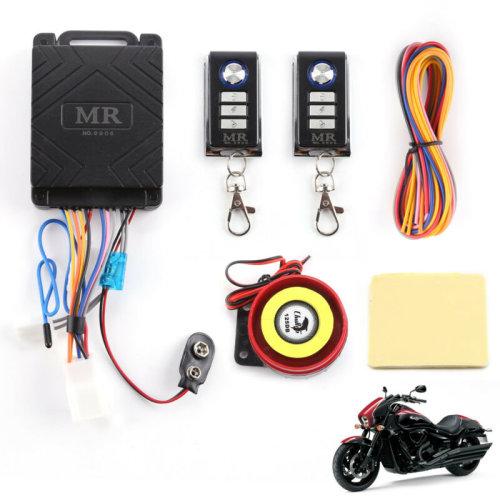 Motorcycle Motorbike Bike Anti-theft Security Alarm Remote Control Sensor System