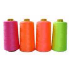 Set of 4 Fluorescent Polyester Sewing Thread 5000 Yards Each (150g Each)