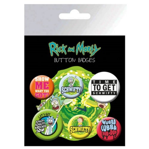 Rick And Morty Official Button Badges