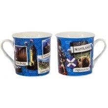 Scotland Snapshot Mug Cup Ceramic Scottish Scenes Collage Souvenir Gift Edinburgh Castle Loch Ness Flag  Montage