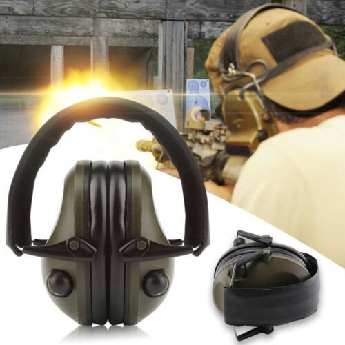 Electronic shooting ear defenders Headphones slimline hunting ear muffs Green U