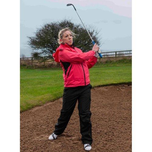 ProQuip Golf Sophie Ultralite Waterproof Rain Jacket Coral/Black Medium