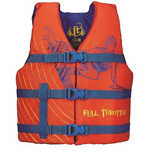Full Throttle Youth Life Vest, Orange