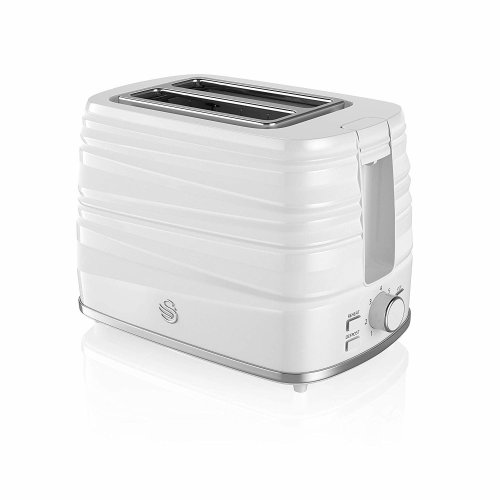 White 2 Slice Symphony Toaster, High Gloss and Matt Finish, 930 Watt,