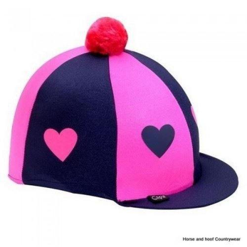 Capz Heartz Motif Lycra Cap Cover