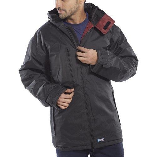 Click MUJBL4XL Mercury Jacket Fleece Lined With Zip Away Hood Black 4XL