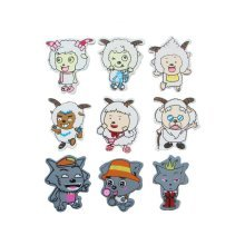 9 PCS Pleasant Sheep Magnets Sheep & Wolf Wooden Magnets for Kids
