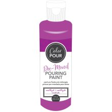 American Crafts Color Pour Pre-Mixed Paint 8oz-Amethyst