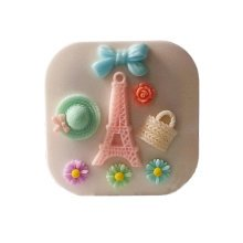 [Set of 2] Special DIY Contact Lenses Box Case/Holders Container,WHITE Eiffel