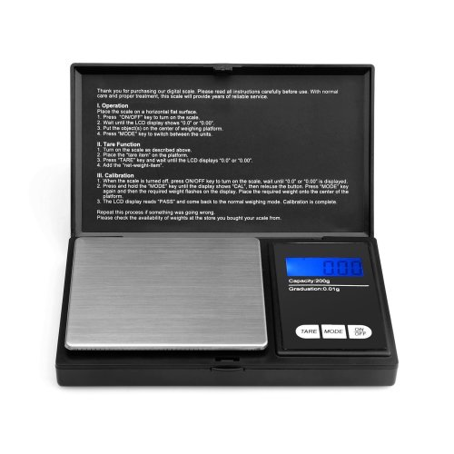 Pocket Scale- Ascher Portable Pocket Digital Scale with LCD Display,