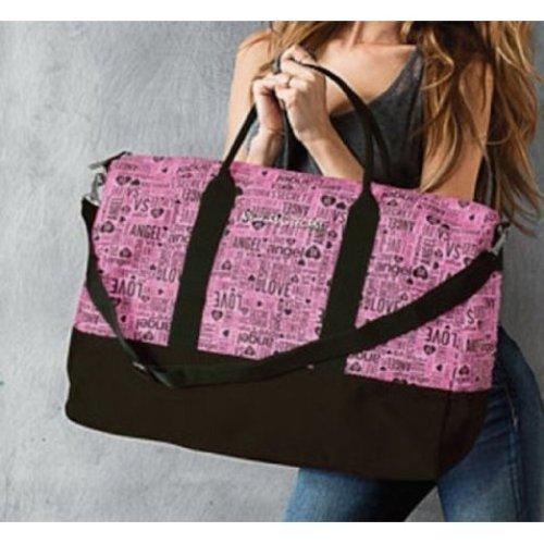 Victoria's Secret Black Pink Getaway Duffle Bag