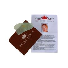 Pure Jade Gua Sha In Traditional Silk Lined Box By White Lotus Anti Aging