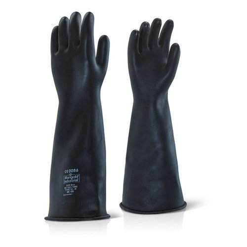 """Ansell ILHW1709 Industrial Latex Heavy Weight Gauntlets 17"""" Size 8.5-9"""