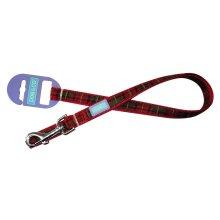 "3/4"" x 48"" Red Tartan Dog Lead - Co 075inch Nylon -  dog tartan lead co red 075inch nylon"