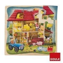 Goula Farm Wooden Puzzle (9 Pieces)