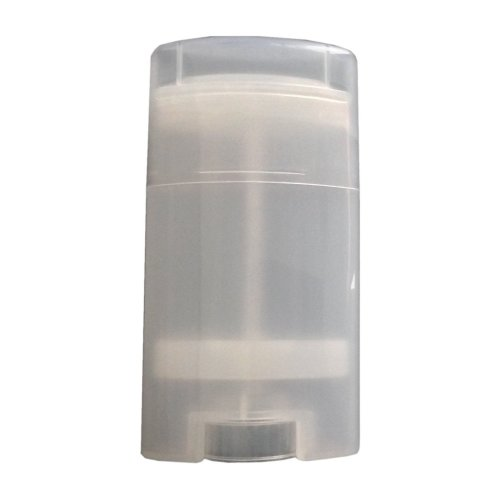 15ml Empty Oval Deodorant Container Lip Balm Tubes Lip Gloss Container  Holder With Caps Pack of 10 pcs (Transparent)