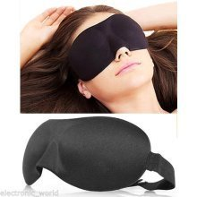 Soft Travel Sleep Rest 3D Eye Shade Sleeping Mask Cover Blinder Aid Eyemask