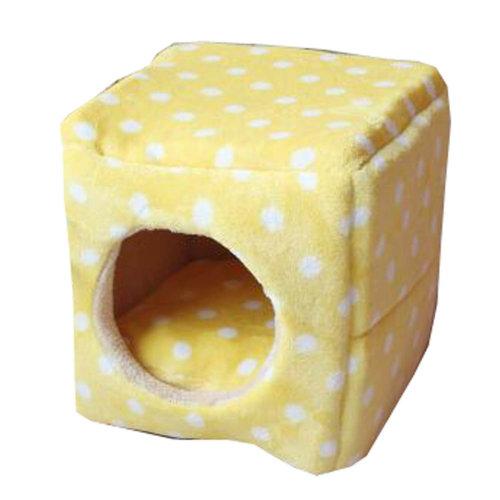Four Seasons Universal Small-scale Pet House Cat Cave Cat Mat [Yellow] [B]