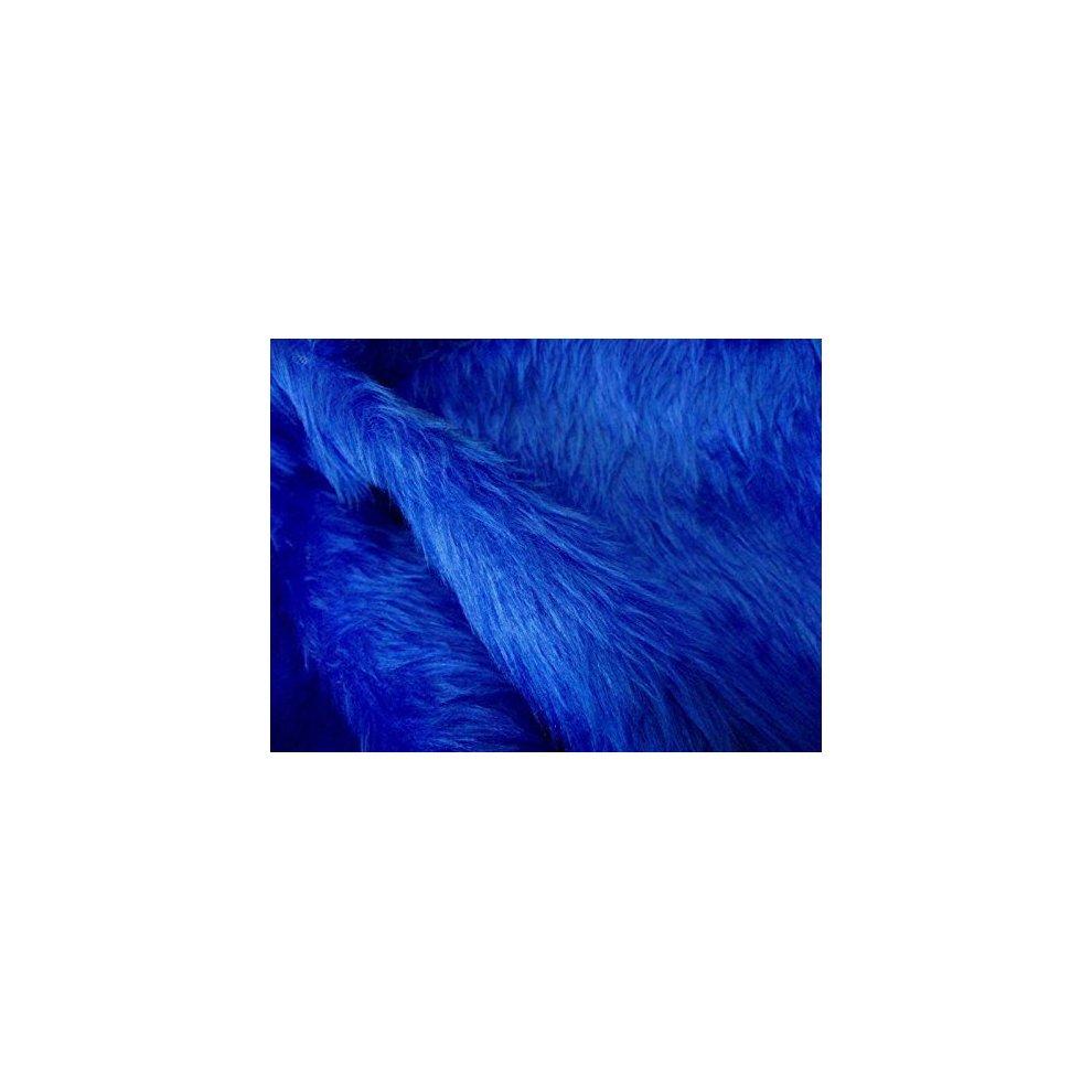 Plain Fun Faux Fur Fabric Material TURQUOISE BLUE