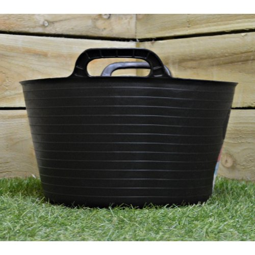 15L Black Flexi Plastic Tub / Bucket for Household and Garden