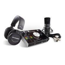 M-Audio M-Track 2x2 Vocal Studio Pro Production Package (Mic, Headphones, Leads)