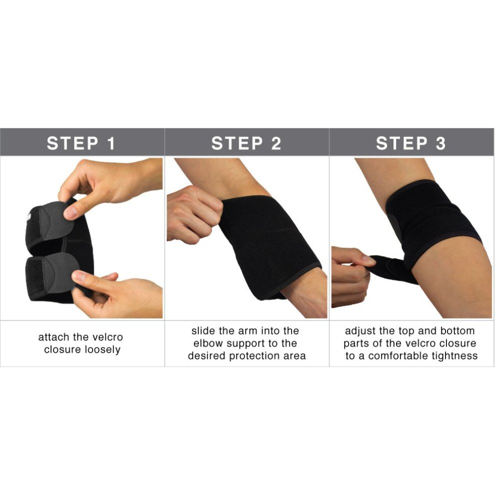 973fa448ff ... Bracoo Neoprene Elbow Support, Easy Adjustable Wrap for Injury Recovery  - 5 ...