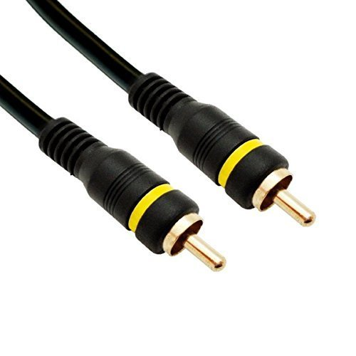 CE Composite Video Cable RCA Male Gold plated Connectors 6 Feet CNE499159