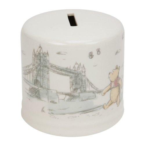 Disney Winnie the Pooh Christopher Robin Ceramic Money Box